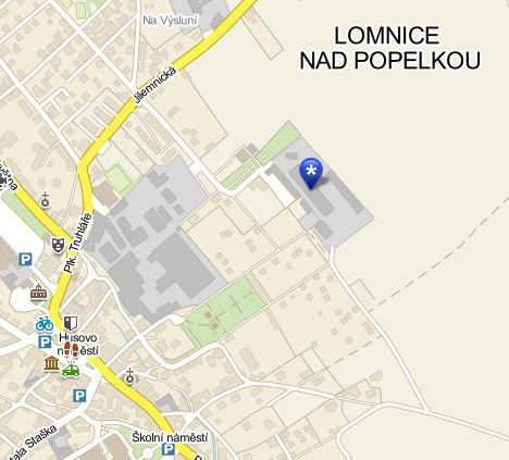 mapa Lomnice nad Popelkou